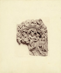Sculpture fragment showing birth of Buddha, from Jamal-Garhi.